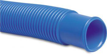 zwembadslang 32mm met mof blauw