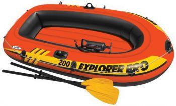 Intex Opblaasboot Explorer Pro 200 Set - Mét peddels en pomp