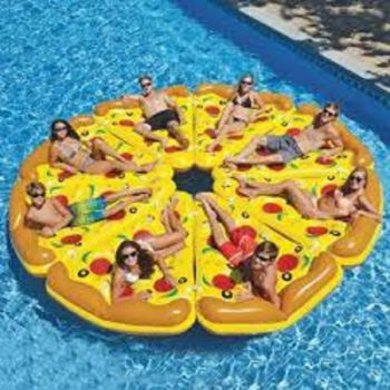 lounge bed pizza