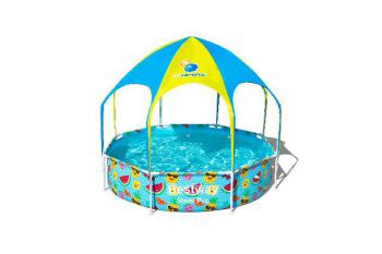 Bestway My First Frame Pool splash-in-shade rond 244